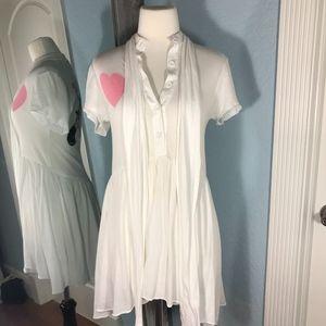 Wildfox White Babydoll Dress w/ Gun Graphic
